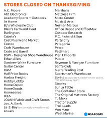 Stores Open In Thanksgiving Azcentral These Stores Won U0027t Be Open On Thanksgiving Day