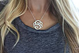 initial monogram necklace monogram initial necklace 12 99 saving with shellie