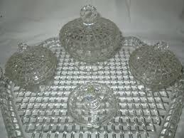 antique dish ring holder images 1940 39 s waffle pattern dresser set powder ring holder jewelry jpg
