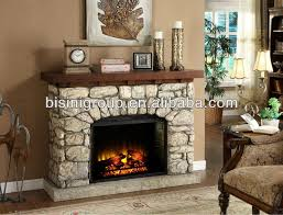 Rustic Electric Fireplace Bisini Classical Rustic Decorative Wooden Electric Fireplace Stone
