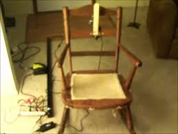 automated rocking chair prop youtube