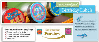 party favor labels personalized birthday party supplies custom birthday labels