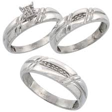 wedding ring trio sets jewelry rings trio ring sets ebay used wedding for him and