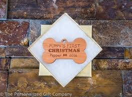 personalized dog ornament puppy u0027s first christmas ornament