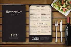 restaurant menu template restaurant menu template vector free