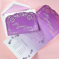 quince invitations lovely in lavender quinceanera invitation