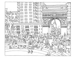 new york washington square new york coloring pages for adults