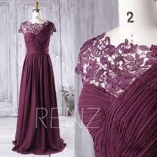 2016 plum bridesmaid dress long one shoulder chiffon wedding