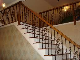 Wooden Banister Iron Stair Railing Home Design By Larizza