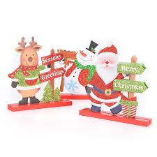 mini wooden santa claus snowman cinnabar ornaments