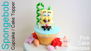 spongebob cake toppers spongebob squarepants cupcake cake topper how to by pink cake