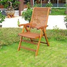 Folding Patio Chairs With Arms Set Of 2 Royal Tahiti Freeport 5 Position Folding Wood Lawn Chairs