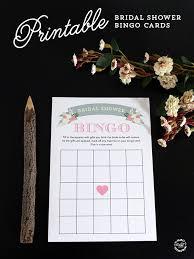 bridal cards printable bridal shower bingo cards