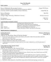 curriculum vitae template leaver resume 6 pharmacist curriculum vitae templates free word pdf format