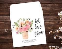 seed packets wedding favors seed packet favors etsy