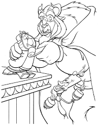 beauty and beast coloring page 14 coloringcolor com