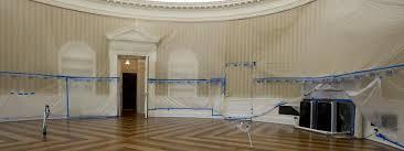 bureau ovale maison blanche une aile de la maison blanche subit de grands travaux de rénovation