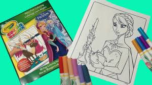 crayola color wonder disney frozen coloring pages how to color