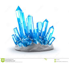 crystals crystals growing isolated on white royalty free stock photo