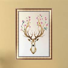 deer antler home decor diamond painting diy 5d embroidery painting needlework cross stitch