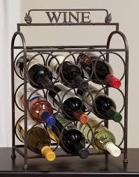 decorative metal wine racks