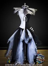 size medium black and white striped satin and tulle circus