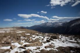 Longs File Longs Peak From Forest Canyon Overlook Trail Ridge Road