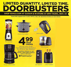 thanksgiving day only 3 free small appliances from kohls 90