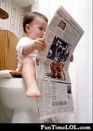 Newspaper Meme Generator - baby on the toilet reading newspaper meme generator