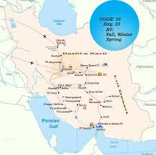 Map Of Persian Gulf Iran Desert Tour Desert Tour Iran Travel Agency Kalouttour Com