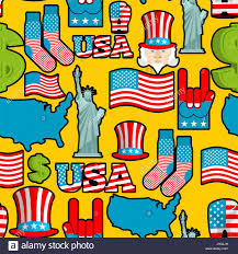 State Flags Of Usa America Symbols Patriotic Pattern Usa National Ornament State