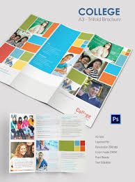 elegant college tri fold brochure template tri fold newsletters