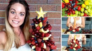 how to make a fruit xmas tree raw nourishment youtube