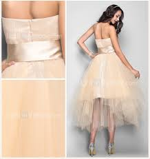 a line strapless tea length tulle cocktail party homecoming