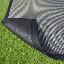 tapis extérieur pvc tressé noir decoweb tapis extérieur