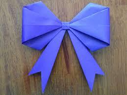 origami bow make