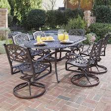 Lowes Outdoor Patio Furniture Sets - shop home styles biscayne 7 piece rust bronze aluminum patio