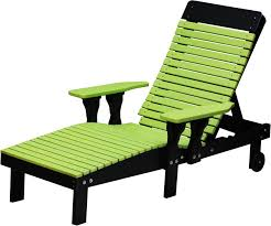 Outdoor Wood Chaise Lounge Luxcraft Poly Lounge Chair From Dutchcrafters