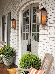 Copper Outdoor Lighting Fixtures Copper Outdoor Lighting Fixtures And White Brick Exterior Color