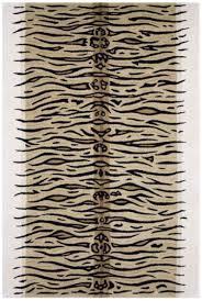 tiger animal print indian rug design htu021