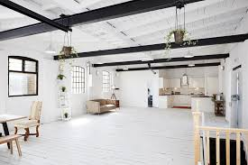 london studio apartment combining scandinavian and industrial