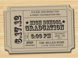 Graduation Party Invitation Cards Graduation Party Ticket Card Save The Date Wedding