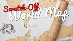 Where I Ve Been Map Scratch Off World Map Great Gift Youtube