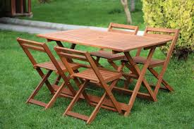 Folding Table Chair Set Wood Table Chair Sets Furniero Outdoor Furniture
