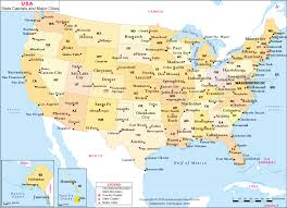 united states map with popular cities united states map map of us states capitals major cities and
