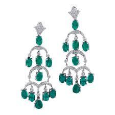 diamond chandelier earrings emerald diamond chandelier earrings twila true jewelry