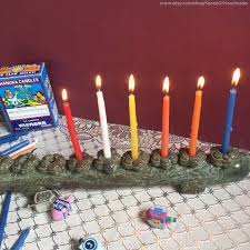 hanukkah candles for sale this sale is for the ceramic hanukkah menorah chanukiah shown