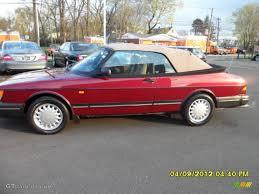 saab 900 convertible 1993 ruby red pearl metallic saab 900 s convertible 63596409