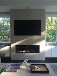 valor l2 1700 linear direct vent fireplace installed on outside