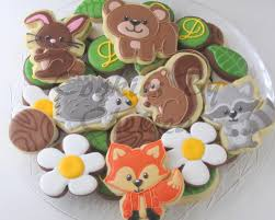 woodland creature baby shower cookies cookie connection